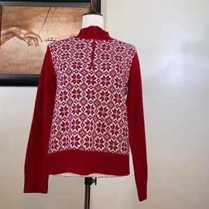 Red and White Snowflake Pullover Sweat NY & Co